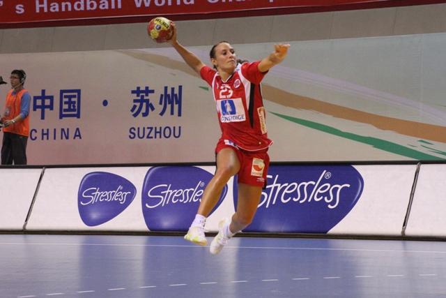 Camilla Herrem på en av sine mange kontraløp under VM i Kina 2009