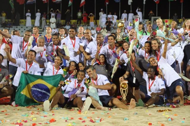 Brasil er verdens beste i beachhåndball