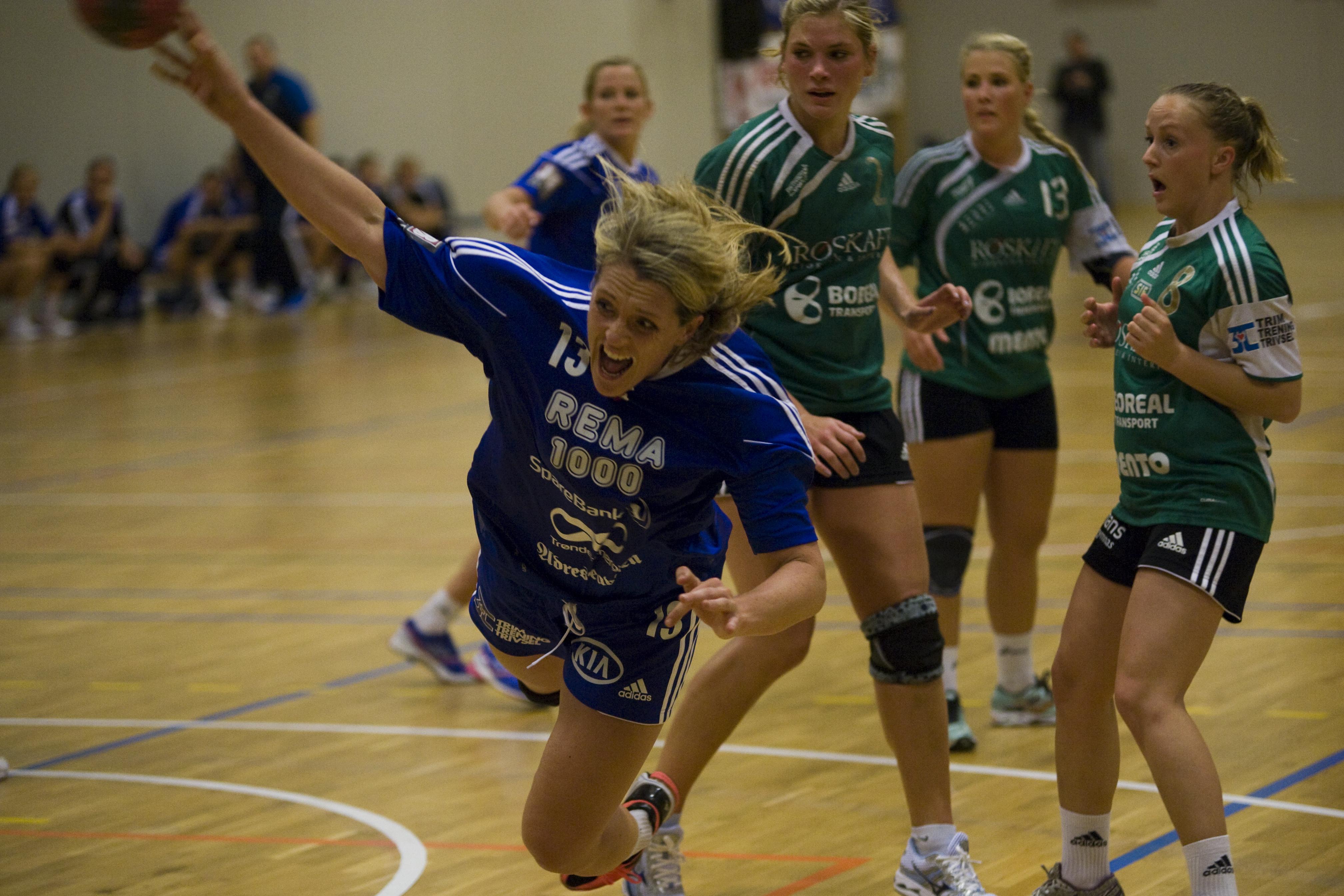 Sara Andersson spilte en bra kamp både i angrep og forsvar. Foto: Håvard Loeng
