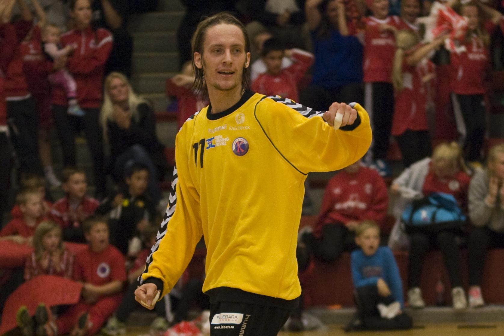 Kolstads keeper, Mats Wæraas, sto til tider som en vegg, og hjalp Kolstad til seier. Foto: Håvard Loeng