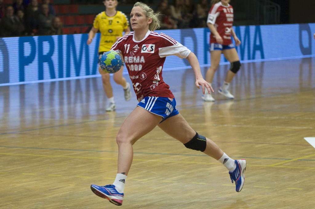 Ida Alstad ble Byåsen sin toppscorer, sammen med Tonje Nøstvoll, i kampen mot Sola. Foto: Håvard Loeng