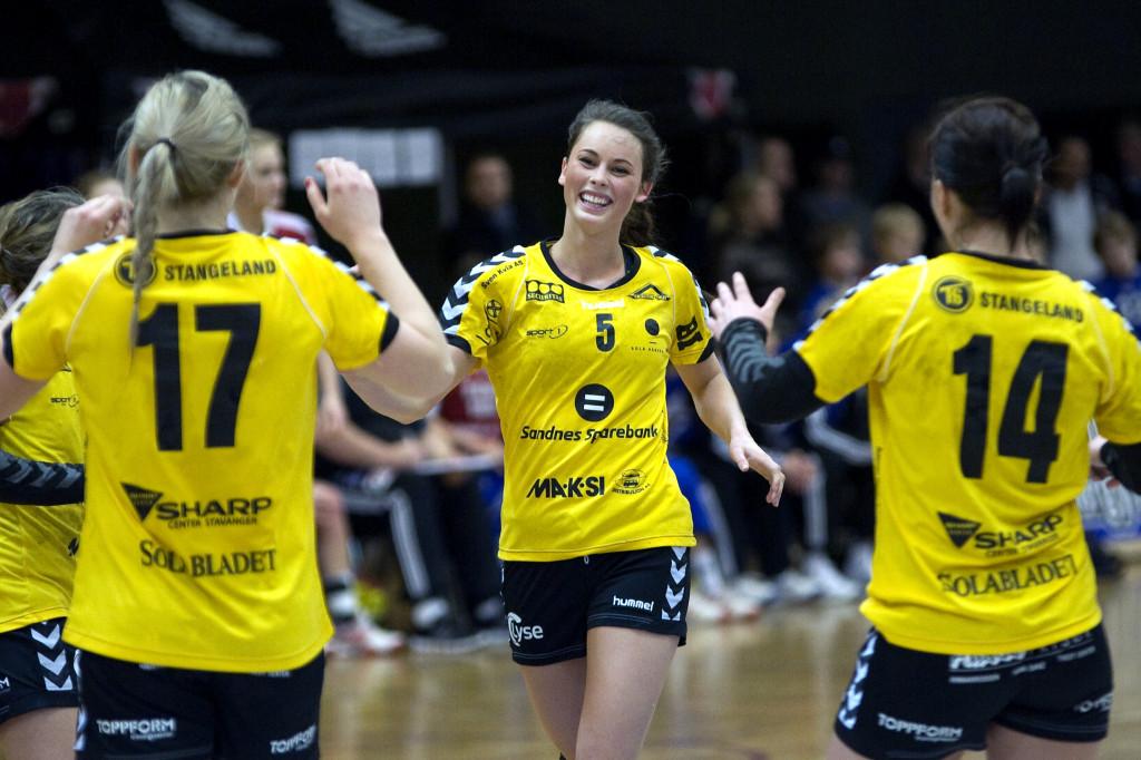 Med 8 mål ble Mailn Holta kampens toppscorer. Foto: Håvard Loeng
