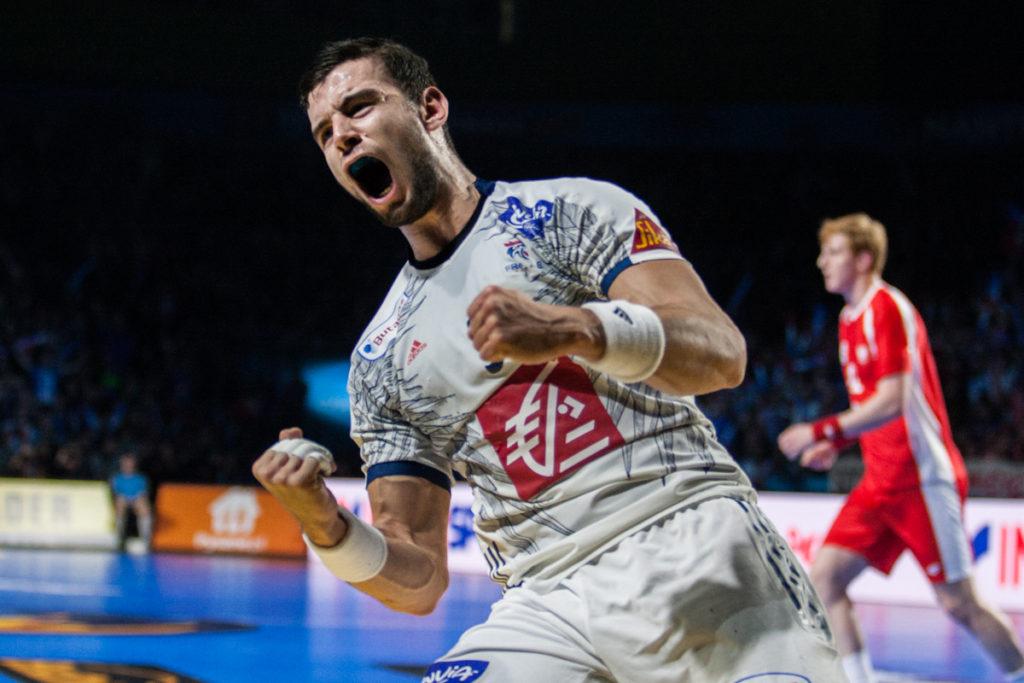 Nedim Remili jubler for en av sine 4 scoringer i kampen mot Polen som Frankrike vant 26-25. | Foto: Bjørn Kenneth Muggerud