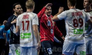 Christian Berge var godt fornøyd med kampen mot Russland | Foto: Bjørn Kenneth Muggerud