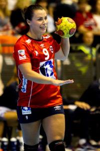 Nora Mørk ble kåret til banens beste i kampen mot Frankrike. | Foto: Bjørn Kenneth Muggerud