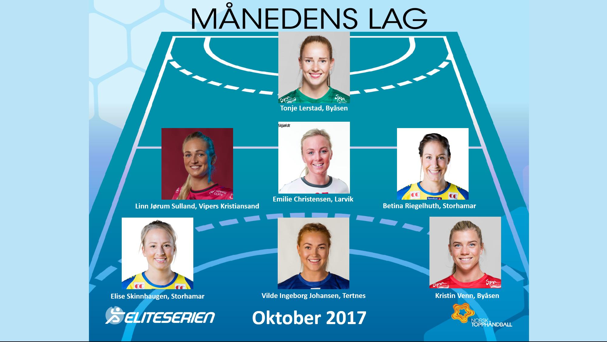 Eliteserien kvinner - månedens lag oktober