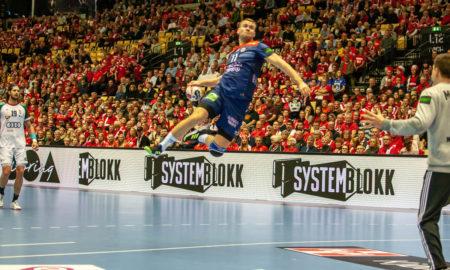 Petter Øverby setter en av sine to mål mot Ungarn | Foto: Bjørn Kenneth Muggerud