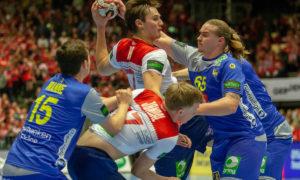 Magnus Rød og Magnus Jøndal i kamp med svenskene